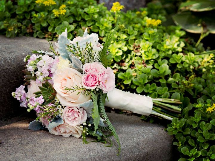 Tmx Calkins Bouquet On Sidewalk 51 902997 Holt, MI wedding florist