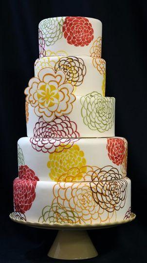 Fabricpatternweddingcakemed