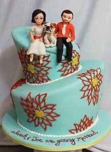 Tmx 1313082437160 Bridegroomanddogweddingcake Boston wedding cake