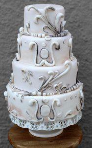 Tmx 1313082449676 Julieantiqueweddingcake Boston wedding cake