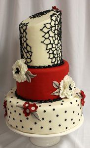 Tmx 1313082458535 Lizredwhiteweddingcake Boston wedding cake