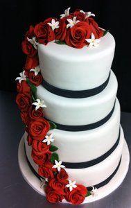 Tmx 1313082472176 Rosecascadeweddingcake Boston wedding cake