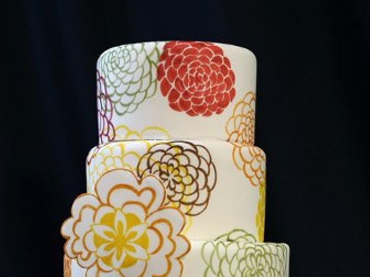 Tmx 1329345657846 Fabricpatternweddingcakemed Boston wedding cake