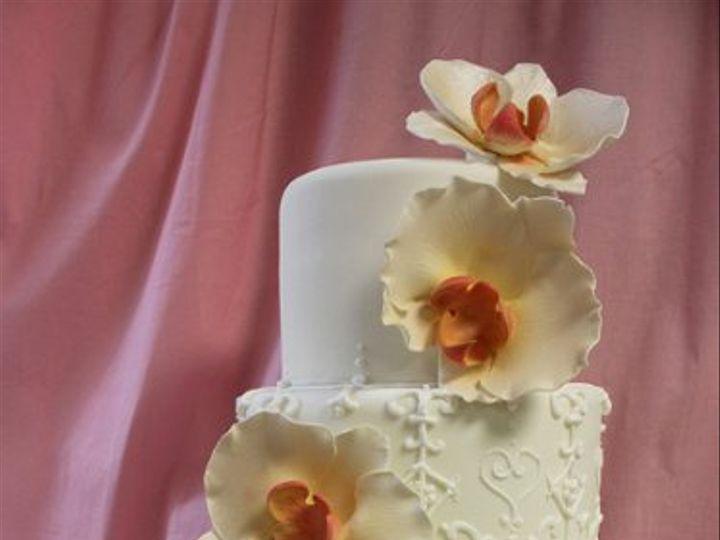 Tmx 1329345765125 ScrollworkOrchidWeddingcakemed Boston wedding cake