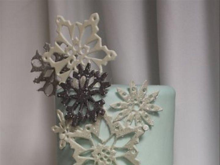 Tmx 1329345785564 SnowflakeCakemed Boston wedding cake
