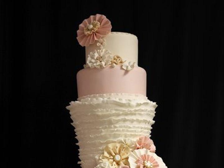 Tmx 1333656966476 RuffleWeddingCakemed Boston wedding cake