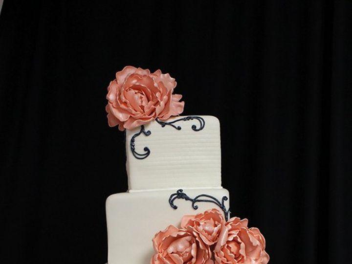 Tmx 1358372461067 PeonySpiralWeddingCake Boston wedding cake