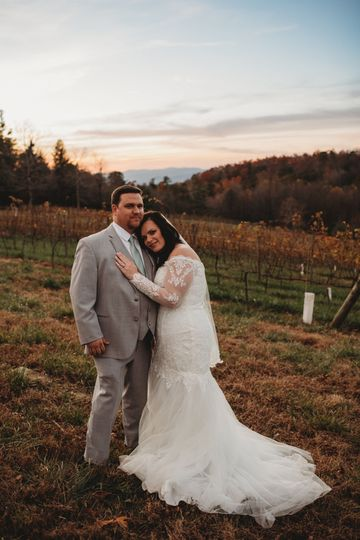 Vineyard and mountain views