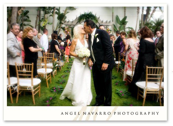 Carribean themed wedding ceremony at the Sarasota Hyatt Hotel in Sarasota, Florida