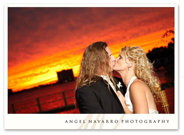Great Florida sunset wedding portrait.