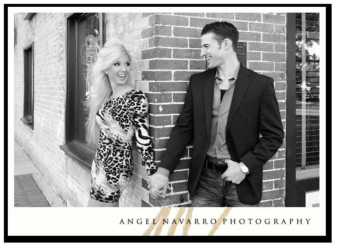 A hip couple and their engagement photography session in Ybor City, Florida.