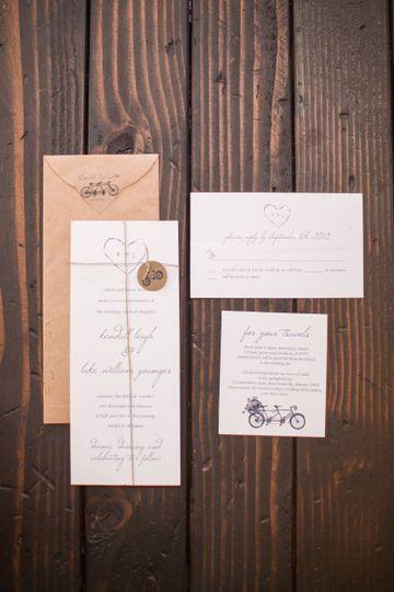 Salt paperie invitations huntsville al weddingwire for Wedding invitations huntsville al