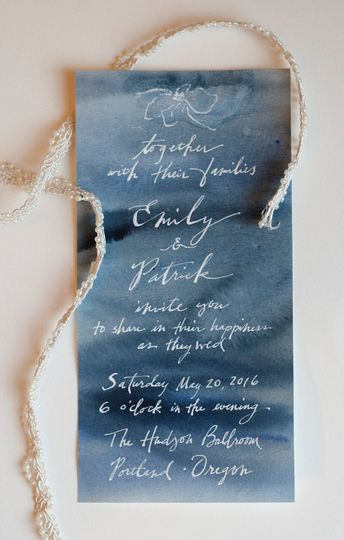 watercolor invite blue