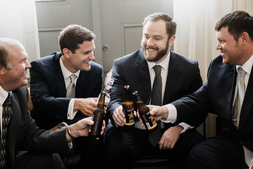 Cheers before the ceremony