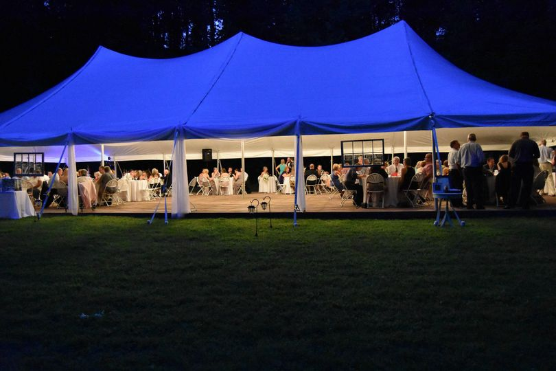 Outdoor wedding ceremony setup