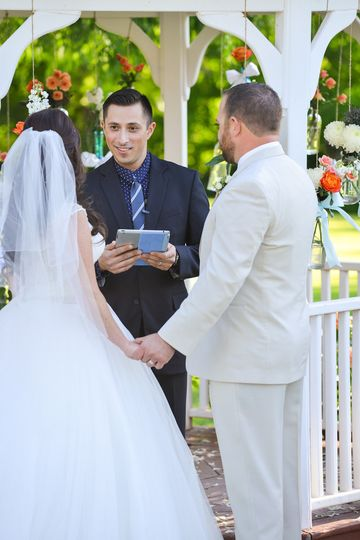 officiant adamgregory wedding