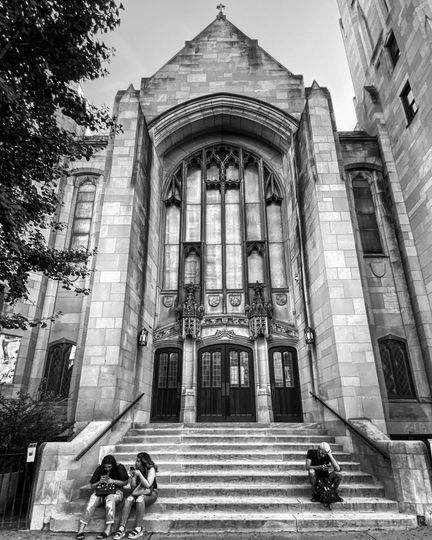 Front Entrance B&W