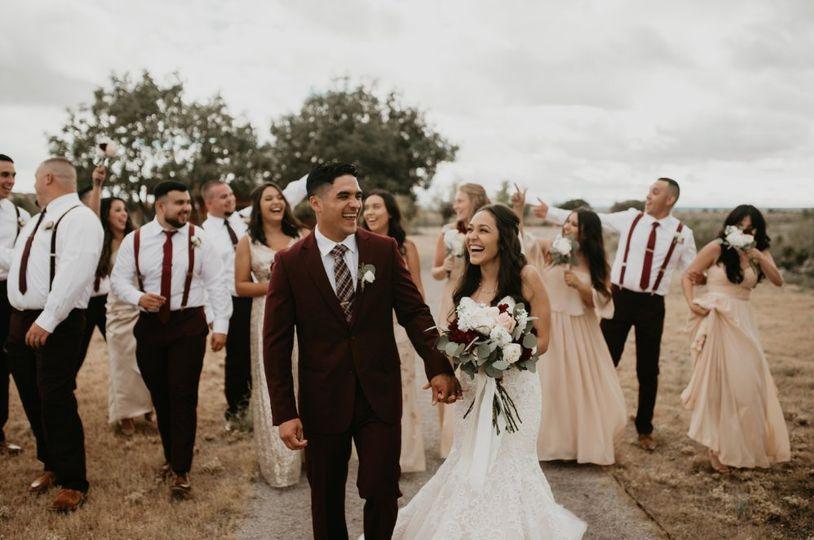 Wedding party portrait Jesse Kay Photography