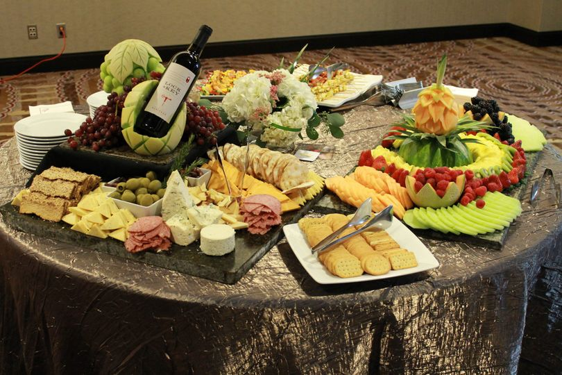 deluxe cheese and fruit station