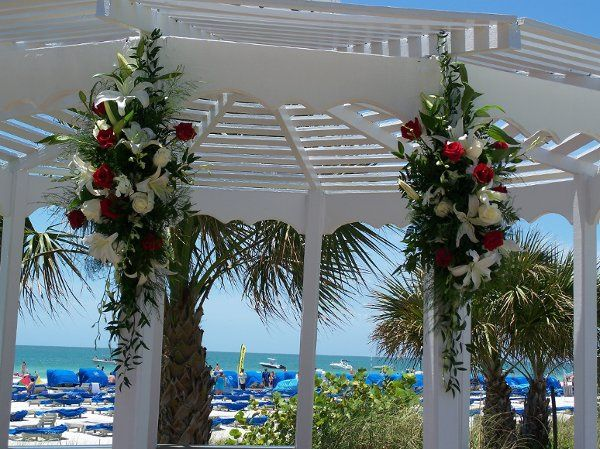 two pieces for gazebo outdoor wedding