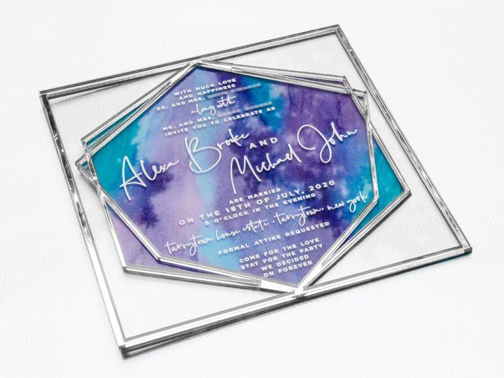 Tmx Prettyinprintct Acrylic Invitation 51 658997 161202614084517 Ridgefield, CT wedding invitation