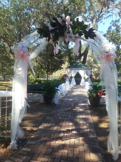 Garden wedding site