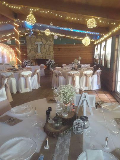 Inside reception hall