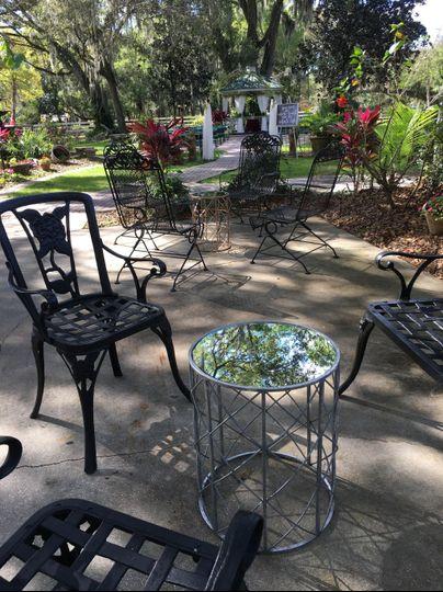 Cocktail Hour in Garden