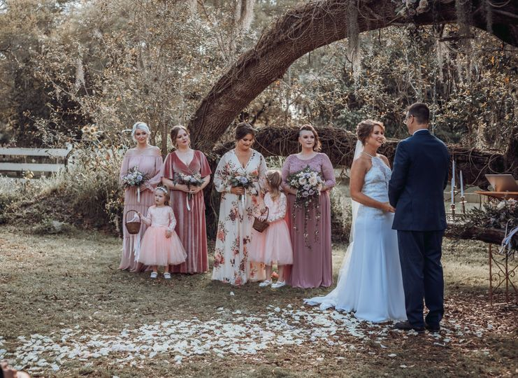 Ceremony at Arch Tree