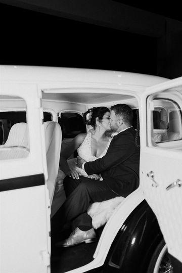 Kiss in a car