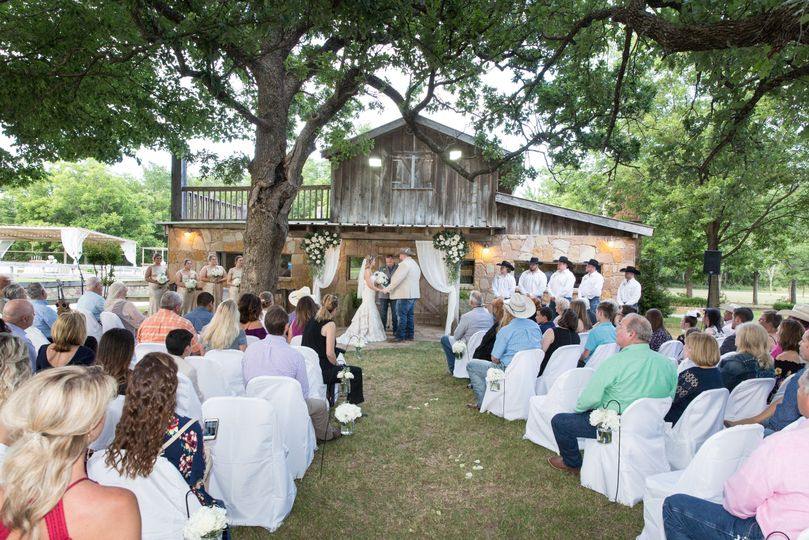 Outdoor ceremony at Barn Venue