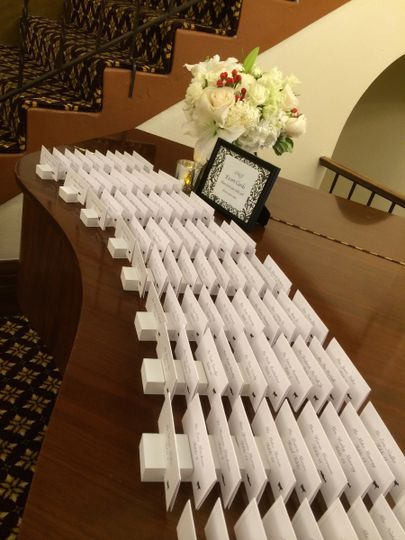 Escort Cards on piano