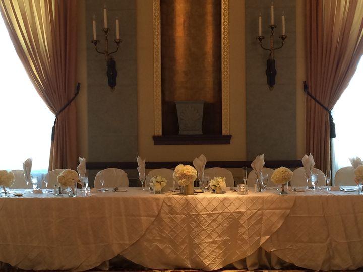 Head Table in Hotel Ballroom