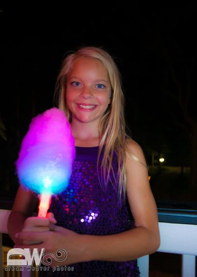 Glow-in-the-dark Cotton Candy station! Add this cool station to your event for a WOW factor!