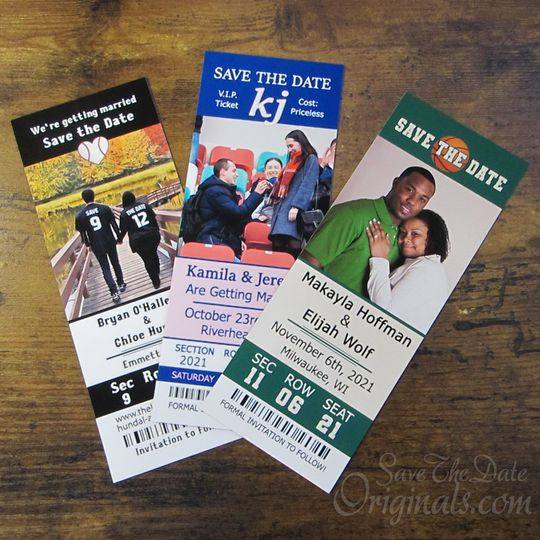 Photo ticket save the dates
