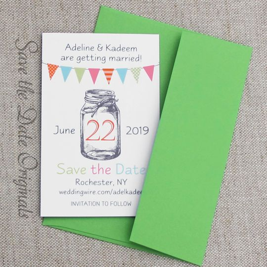 Cheerful Save the Date Magnet
