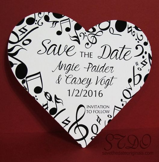 Music Heart Shape Save the Dat