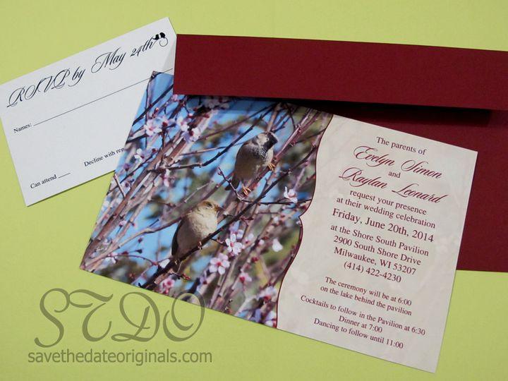 Tmx 1398022177596 Pairbirdsinvitatio Garden City, ID wedding invitation
