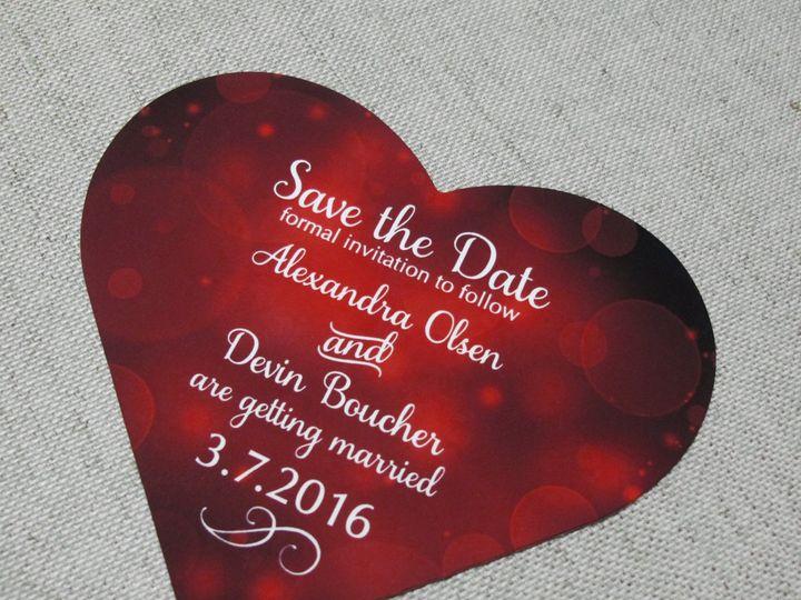 Tmx 1444622598752 Heartromantic Garden City, ID wedding invitation