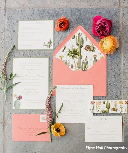 Desert-inspired Wedding Invitation
