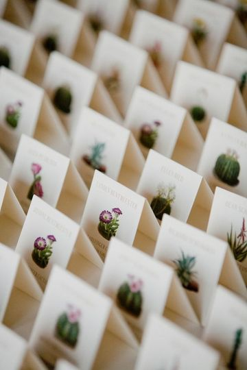 Desert Inspired Escort Cards