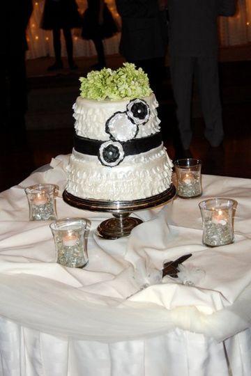 Ruffled fondant wedding cake