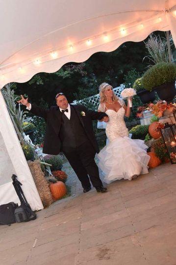 Newly weds enter