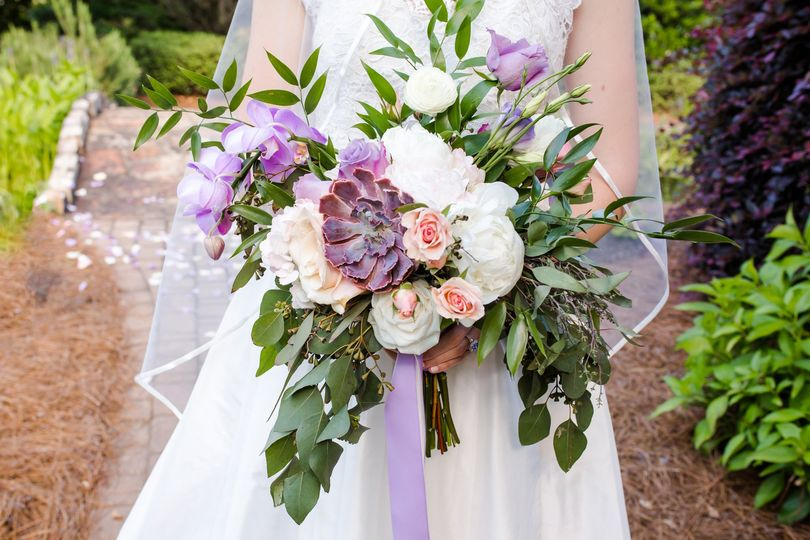 Purple bouquet - Kate Cherry Photography, LLC