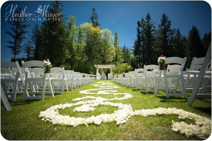 White Rose Petal Aisle runner