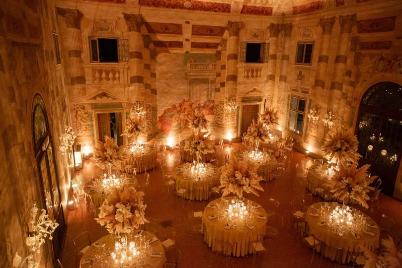 Elegant reception in Venice
