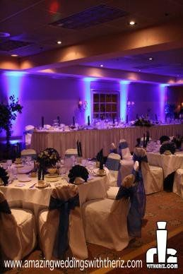 We also do Event Lighting. This was a simple Uplighting effect for the head table. These lights can...