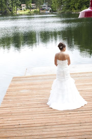 Bride on the dock