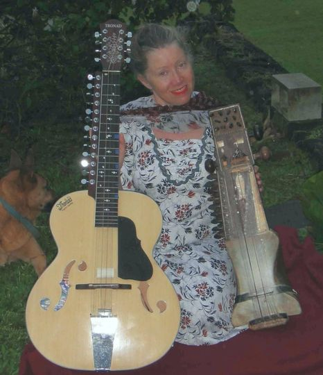 Laurie with Indian Veenatar and Sarangi