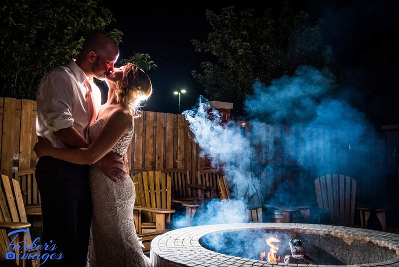 Kiss by the fire